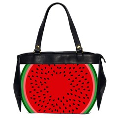 Watermelon Office Handbags (2 Sides)  by Valentinaart