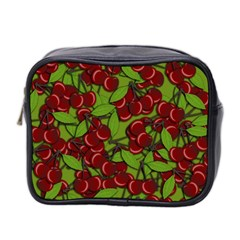 Cherry Jammy Pattern Mini Toiletries Bag 2 Side by Valentinaart