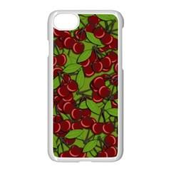 Cherry Jammy Pattern Apple Iphone 7 Seamless Case (white) by Valentinaart