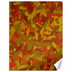 Orange Autumn Canvas 12  X 16   by Valentinaart