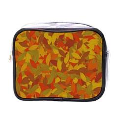 Orange Autumn Mini Toiletries Bags by Valentinaart