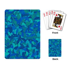 Blue Autumn Playing Card by Valentinaart