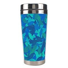 Blue Autumn Stainless Steel Travel Tumblers by Valentinaart