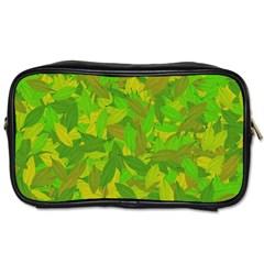 Green Autumn Toiletries Bags by Valentinaart