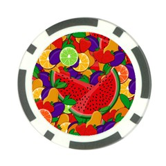 Summer Fruits Poker Chip Card Guard by Valentinaart