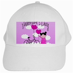 Pink Daydream  White Cap by Valentinaart