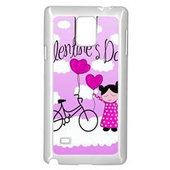 Pink Daydream  Samsung Galaxy Note 4 Case (white) by Valentinaart