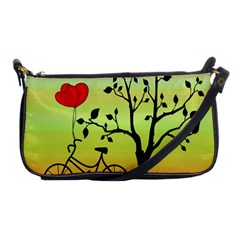 Love Sunrise Shoulder Clutch Bags by Valentinaart