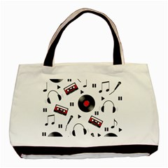 Music Pattern Basic Tote Bag by Valentinaart