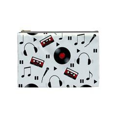 Music Pattern Cosmetic Bag (medium)  by Valentinaart