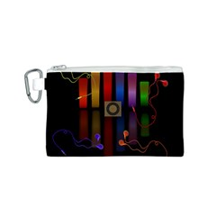 Energy Of The Sound Canvas Cosmetic Bag (s) by Valentinaart
