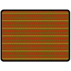 Fugly Christmas Xmas Pattern Double Sided Fleece Blanket (large)