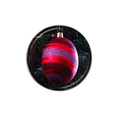 Glass Ball Decorated Beautiful Red Hat Clip Ball Marker by Nexatart