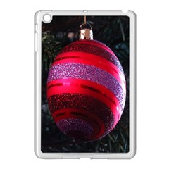 Glass Ball Decorated Beautiful Red Apple Ipad Mini Case (white)