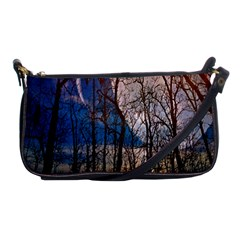 Full Moon Forest Night Darkness Shoulder Clutch Bags by Nexatart