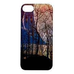 Full Moon Forest Night Darkness Apple Iphone 5s/ Se Hardshell Case by Nexatart