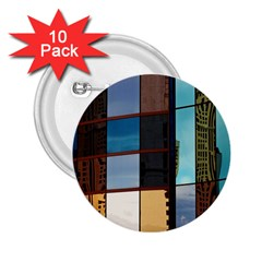 Glass Facade Colorful Architecture 2 25  Buttons (10 Pack)  by Nexatart