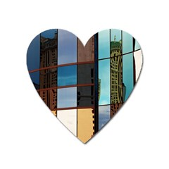 Glass Facade Colorful Architecture Heart Magnet by Nexatart