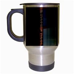 Glass Facade Colorful Architecture Travel Mug (silver Gray)