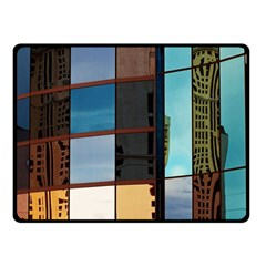 Glass Facade Colorful Architecture Fleece Blanket (Small)