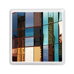 Glass Facade Colorful Architecture Memory Card Reader (square)  by Nexatart