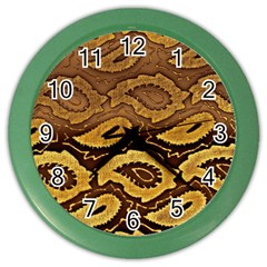Golden Patterned Paper Color Wall Clocks