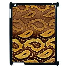 Golden Patterned Paper Apple Ipad 2 Case (black) by Nexatart