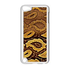 Golden Patterned Paper Apple Ipod Touch 5 Case (white) by Nexatart