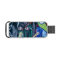 Graffiti Art Urban Design Paint Portable Usb Flash (one Side) by Nexatart