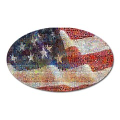 Grunge United State Of Art Flag Oval Magnet by Nexatart