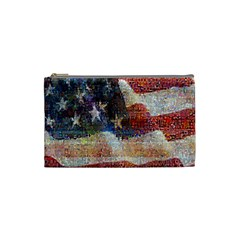 Grunge United State Of Art Flag Cosmetic Bag (small)  by Nexatart