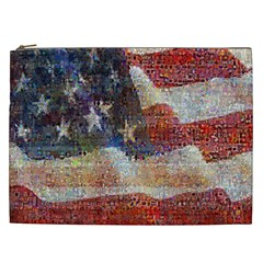 Grunge United State Of Art Flag Cosmetic Bag (xxl)  by Nexatart