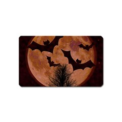 Halloween Card Scrapbook Page Magnet (Name Card) by Nexatart