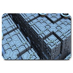Grid Maths Geometry Design Pattern Large Doormat  by Nexatart