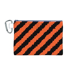 Halloween Background Canvas Cosmetic Bag (M) by Nexatart