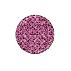Floral Pink Collage Pattern Hat Clip Ball Marker (10 Pack) by dflcprints