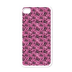 Floral Pink Collage Pattern Apple Iphone 4 Case (white) by dflcprints