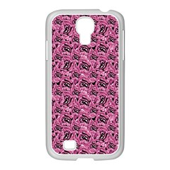 Floral Pink Collage Pattern Samsung Galaxy S4 I9500/ I9505 Case (white) by dflcprints