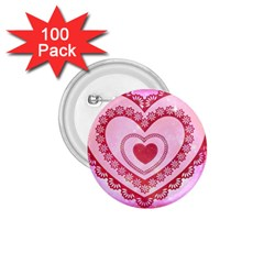 Heart Background Lace 1 75  Buttons (100 Pack)  by Nexatart