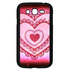 Heart Background Lace Samsung Galaxy Grand Duos I9082 Case (black) by Nexatart