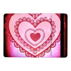 Heart Background Lace Samsung Galaxy Tab Pro 10 1  Flip Case by Nexatart