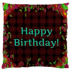 Happy Birthday! Standard Flano Cushion Case (two Sides) by Nexatart