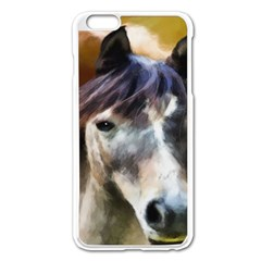Horse Horse Portrait Animal Apple Iphone 6 Plus/6s Plus Enamel White Case by Nexatart