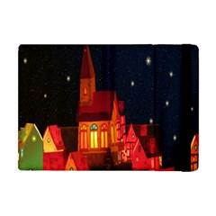 Market Christmas Light Apple Ipad Mini Flip Case by Nexatart