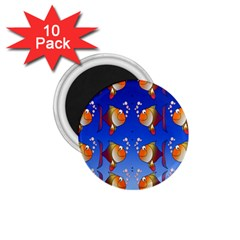 Illustration Fish Pattern 1 75  Magnets (10 Pack)  by Nexatart