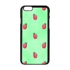 Ladybug Pattern Apple iPhone 6/6S Black Enamel Case by Nexatart