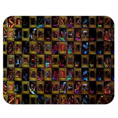 Kaleidoscope Pattern Abstract Art Double Sided Flano Blanket (medium)  by Nexatart