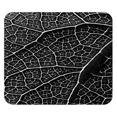 Leaf Pattern  B&w Double Sided Flano Blanket (small)  by Nexatart