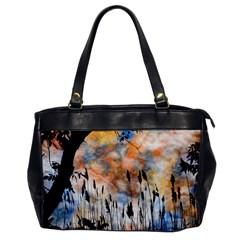 Landscape Sunset Sky Summer Office Handbags by Nexatart