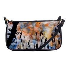 Landscape Sunset Sky Summer Shoulder Clutch Bags by Nexatart